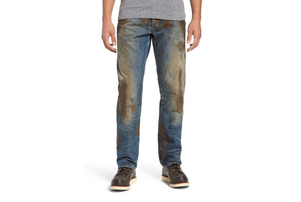 Nordstrom sells jeans covered with fake mud for $425.
