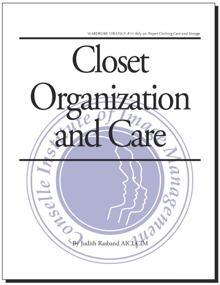 Closet Organization & Care Seal Cover